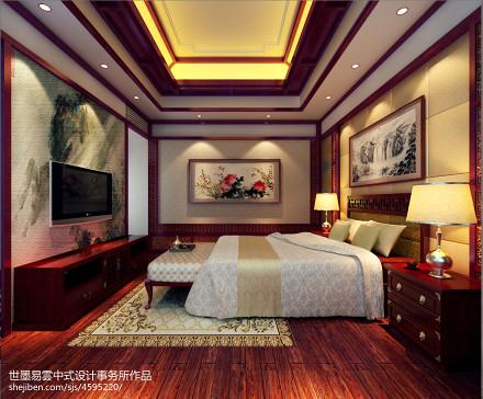 浪漫650平中式别墅卧室效果图片大全卧室1图