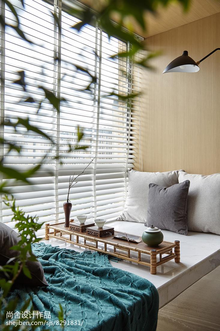 田园简约三居窗台设计图卧室现代简约卧室设计图片赏析