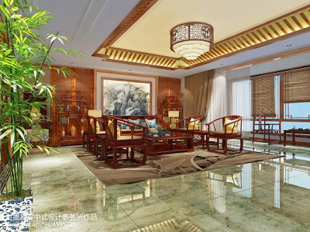 温馨458平中式别墅客厅效果图客厅