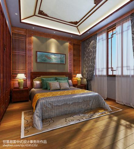 大气996平中式别墅卧室设计图卧室