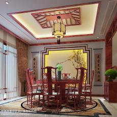 质朴259平中式别墅餐厅效果图