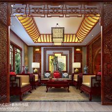 质朴778平中式别墅客厅装修案例