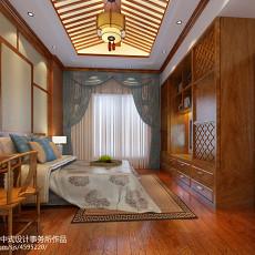 质朴671平中式别墅卧室效果图片大全