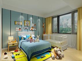 温馨281平现代别墅卧室装修装饰图151-200m²别墅豪宅现代简约家装装修案例效果图