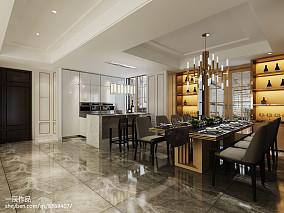 2018大小130平别墅餐厅现代装修欣赏图片151-200m²别墅豪宅现代简约家装装修案例效果图