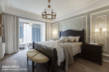 明亮123平美式三居卧室装潢图卧室