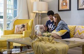 热门98平米三居客厅美式装修欣赏图