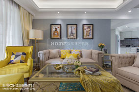 201895平米三居客厅美式装修图片
