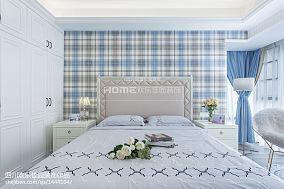 热门面积93平美式三居卧室装修图片
