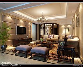 精美面积97平欧式三居客厅欣赏图片
