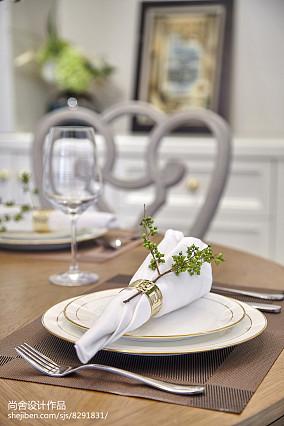 精美124平米欧式别墅餐厅实景图片欣赏别墅豪宅欧式豪华家装装修案例效果图