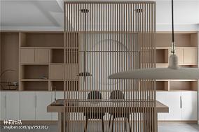 淡雅简约三居书架设计图片