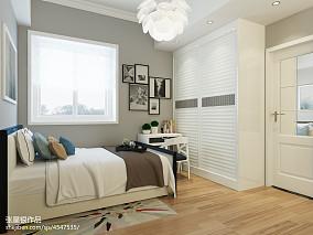美式88平米两室两厅装修时尚卧室