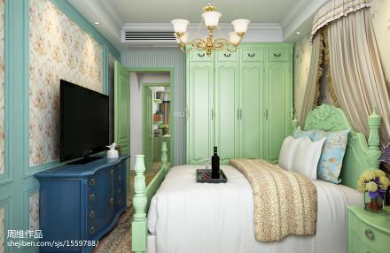 精致86平田园二居卧室图片欣赏卧室5图