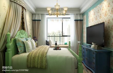 悠雅60平田园二居卧室装修案例卧室1图