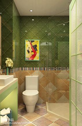 浪漫73平田园二居卫生间装修装饰图卫生间1图美式田园设计图片赏析