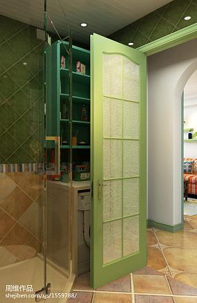 优雅90平田园二居卫生间装饰图卫生间2图美式田园设计图片赏析