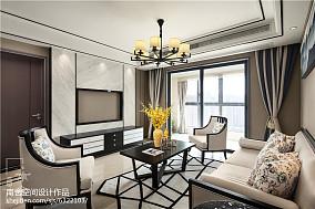 中式三居客厅装修实景图片三居中式现代家装装修案例效果图
