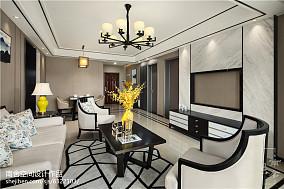 经典中式客厅设计效果图三居中式现代家装装修案例效果图