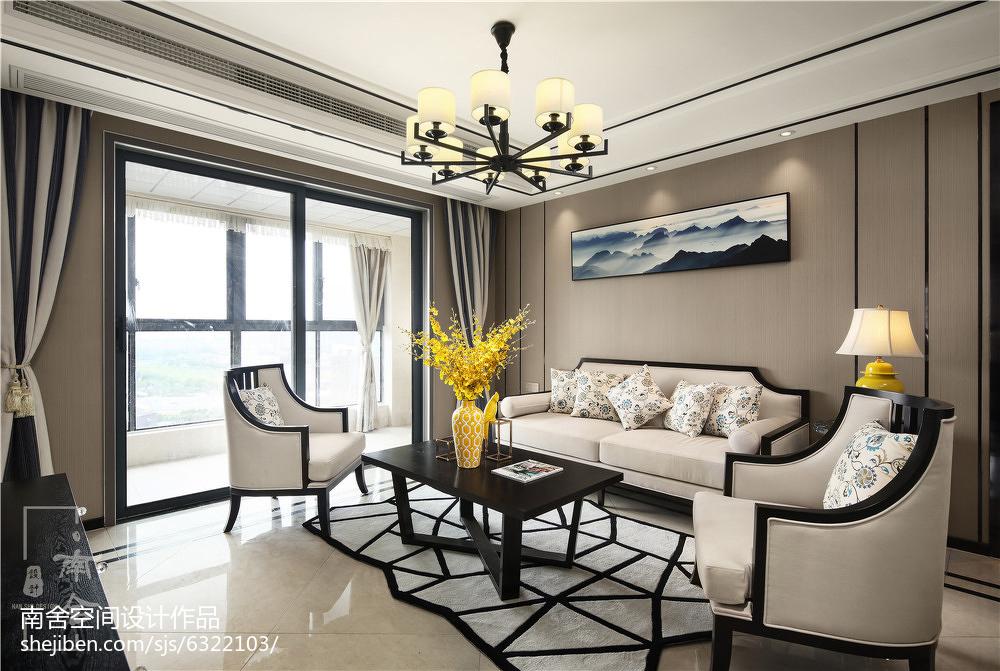 经典中式客厅吊灯设计图客厅中式现代客厅设计图片赏析