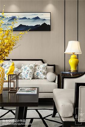 精选90平米三居客厅中式装饰图片三居中式现代家装装修案例效果图