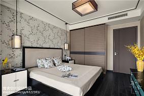 精选面积97平中式三居卧室装修效果图片大全三居中式现代家装装修案例效果图