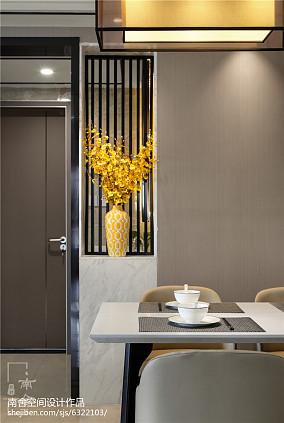 温馨107平中式三居玄关实景图三居中式现代家装装修案例效果图
