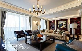 悠雅230平美式别墅客厅设计效果图