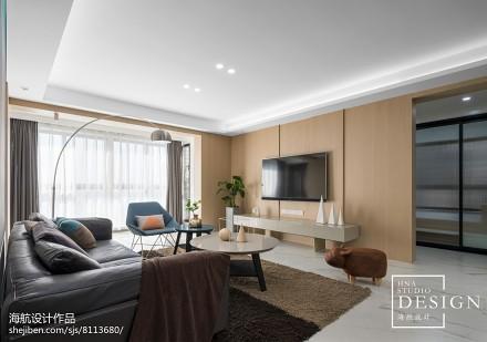 143㎡现代简约客厅设计图