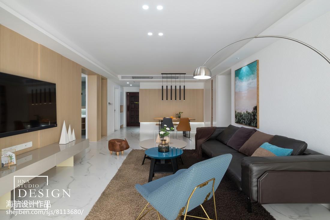 【安家】龙湖花千树143㎡现代简约客厅现代简约客厅设计图片赏析