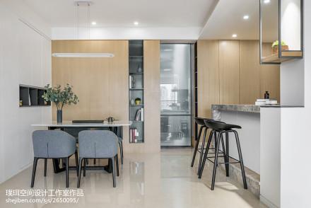 热门94平米三居餐厅现代欣赏图片大全厨房