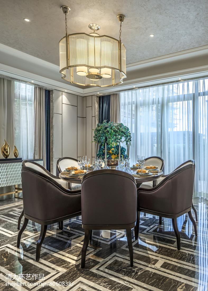 2018精选144平米中式别墅餐厅装饰图片大全厨房中式现代餐厅设计图片赏析