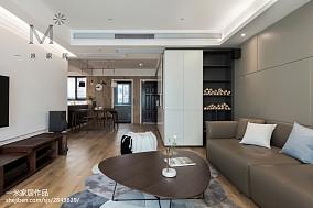 温馨90平现代三居客厅装修图121-150m²三居现代简约家装装修案例效果图