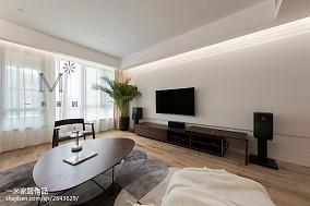 大气118平现代三居客厅实景图