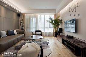 优美71平现代三居客厅布置图
