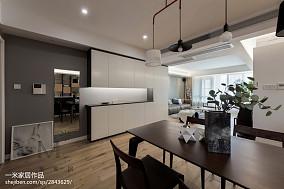 2018精选91平米三居餐厅现代装修实景图片欣赏121-150m²三居现代简约家装装修案例效果图