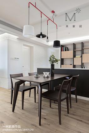 华丽89平现代三居餐厅实景图