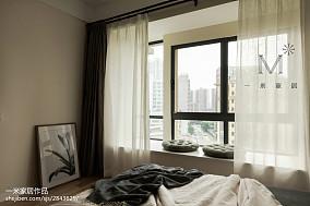 精选大小96平现代三居卧室装修欣赏图片大全121-150m²三居现代简约家装装修案例效果图