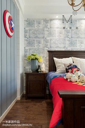 平米四居儿童房美式效果图片欣赏四居及以上美式经典家装装修案例效果图