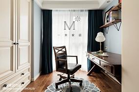 精选四居书房美式欣赏图四居及以上美式经典家装装修案例效果图