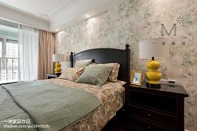 2018精选131平米四居卧室美式效果图片欣赏四居及以上美式经典家装装修案例效果图