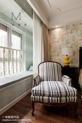 2018精选143平米四居卧室美式效果图四居及以上美式经典家装装修案例效果图
