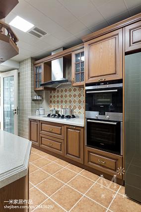 轻奢141平美式四居厨房布置图四居及以上美式经典家装装修案例效果图