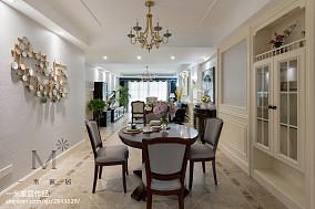 明亮157平美式四居餐厅装潢图四居及以上美式经典家装装修案例效果图
