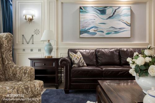 精致177平美式四居客厅装潢图客厅窗帘151-200m²四居及以上美式经典家装装修案例效果图