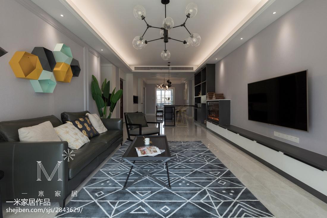 明亮144平简约四居客厅设计美图客厅现代简约客厅设计图片赏析