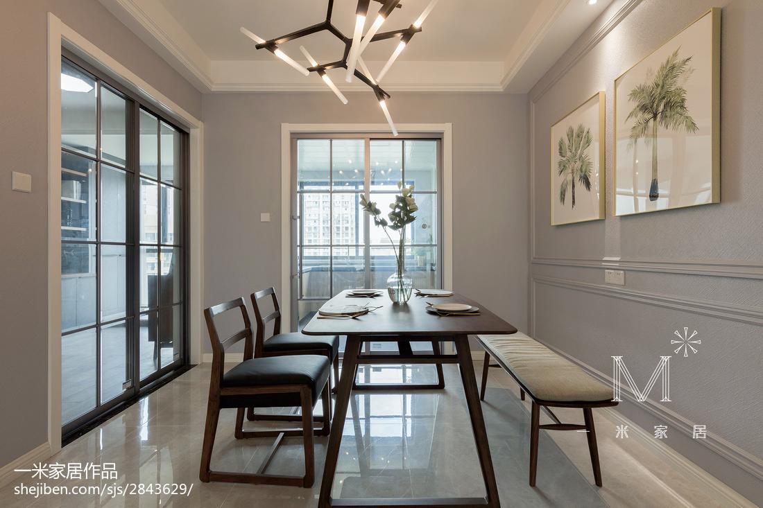 精美面积130平简约四居餐厅装修效果图厨房门2图现代简约餐厅设计图片赏析