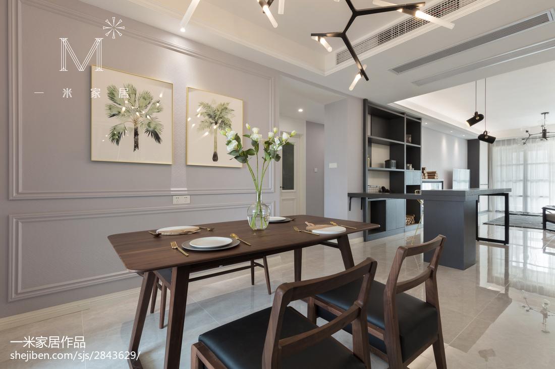 2018精选面积130平简约四居餐厅欣赏图厨房窗帘1图现代简约餐厅设计图片赏析