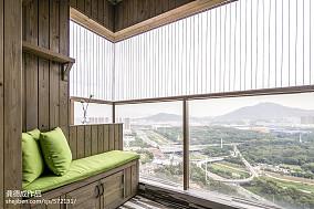 面积87平北欧二居阳台实景图片大全