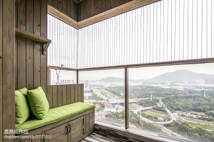 面积87平北欧二居阳台实景图片大全阳台
